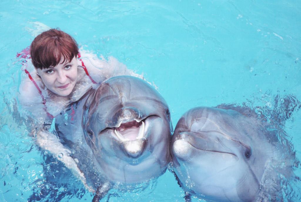 С дельфинами в Феодосии